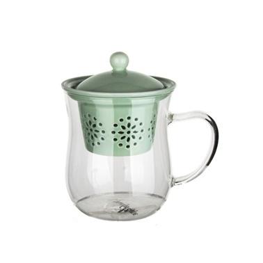 Ultraform Porselen Süzgeçli Oval Kupa Yeşil Yeşil